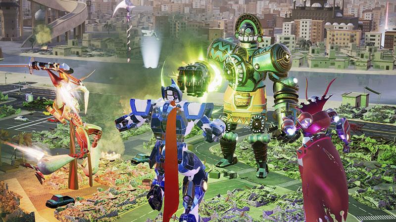 EL ROBOT DE LINTERNA VERDE - Override: Mech City Brawl