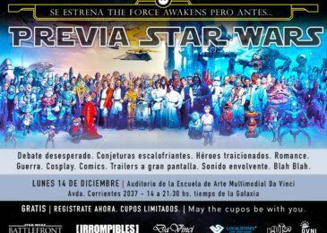 Los invitamos a la Previa Star Wars