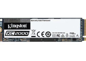 Kingston presenta el KC2000NVMe PCIe SSD de última generación