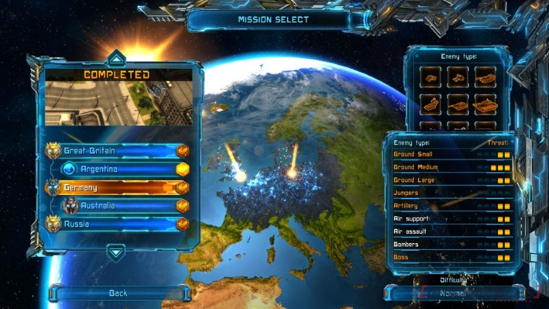 X-Morph: Defense mapa