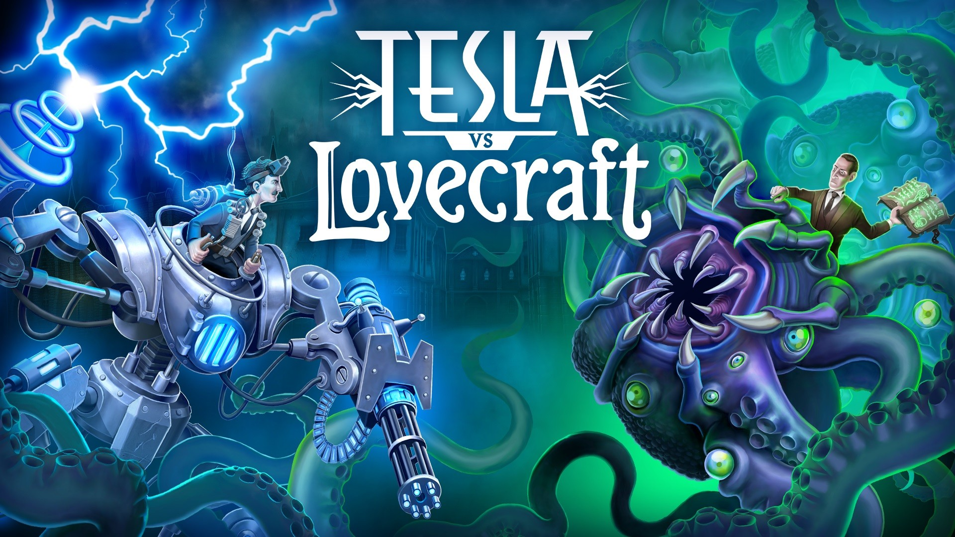 Tesla vs Lovecraft head