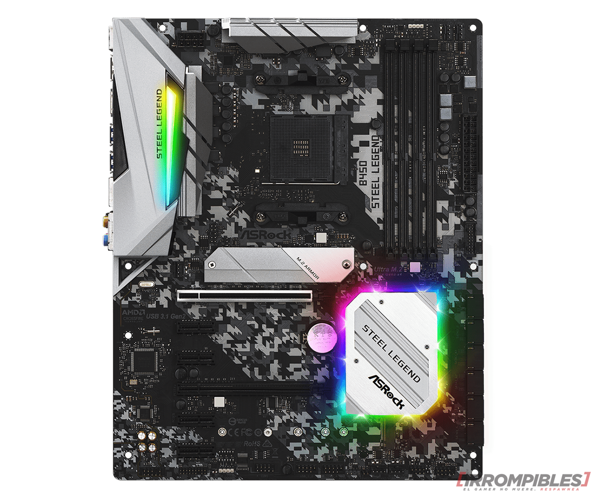 ASROCK B450 Steel Legend features