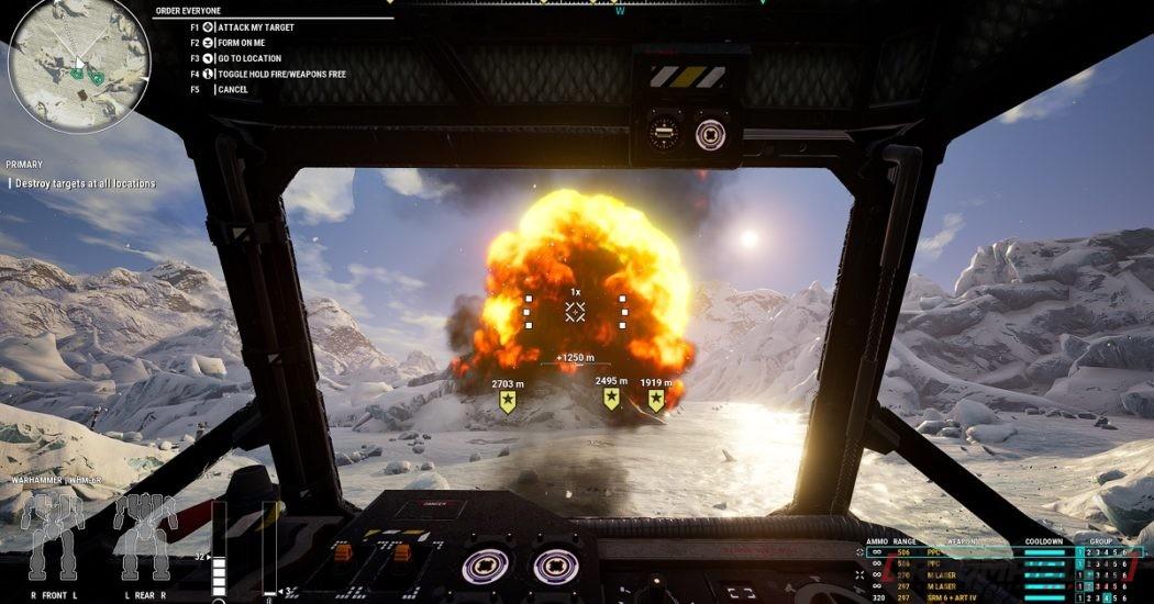 Mechwarrior 5 Mercenaries explosion