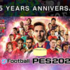 eFootball PES: campaña de celebración por el 25.º aniversario.