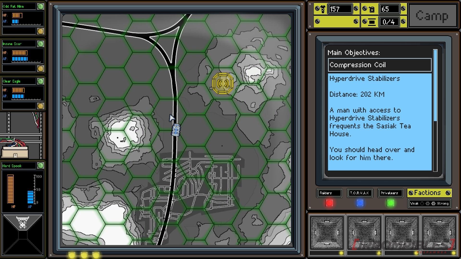 convoy mapa