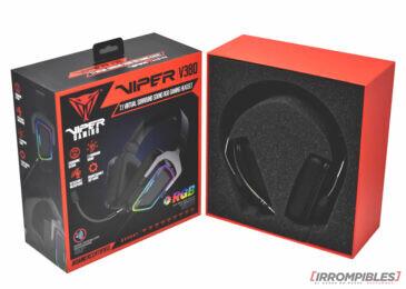 Headset Viper V380 Virtual 7.1 de Patriot para gamers en Argentina